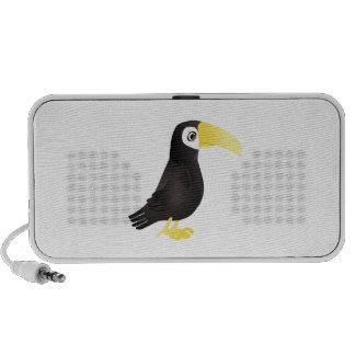 Standing Cartoon Toucan Bird Facing to the Side Portable Speaker