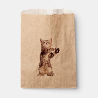 Standing cat - kitty - pet - feline - pet cat favour bags