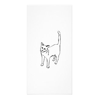 Standing Cat Customized Photo Card