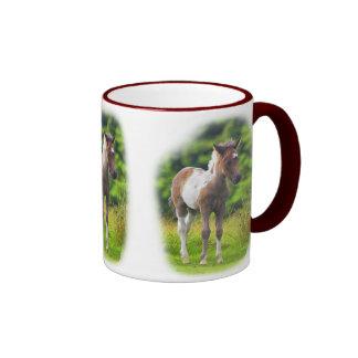 Standing Dartmoor Pony Foal Ringer Mug