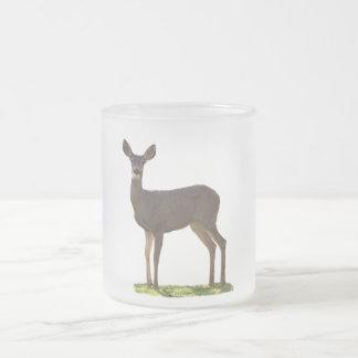 STANDING DEER FROSTED GLASS MUG