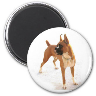 Standing fawn boxer magnet