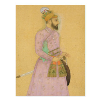 Standing figure of a Mughal prince, from the Small Postcard
