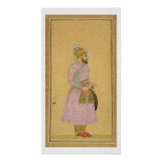 Standing figure of a Mughal prince, from the Small Poster