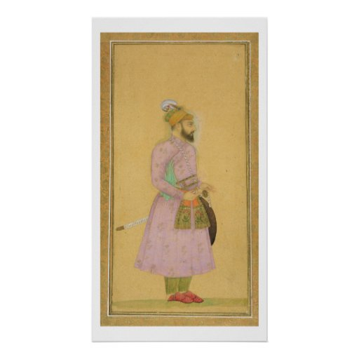 Standing figure of a Mughal prince, from the Small Posters