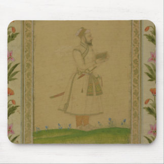 Standing figure of a nobleman, holding a book, fro mouse mat