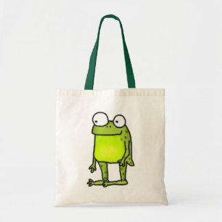 Standing Frog Budget Tote Bag