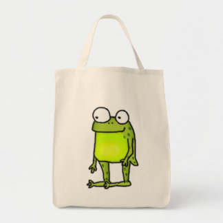 Standing Frog Grocery Tote Bag