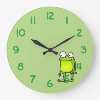 Standing Frog Large Clock