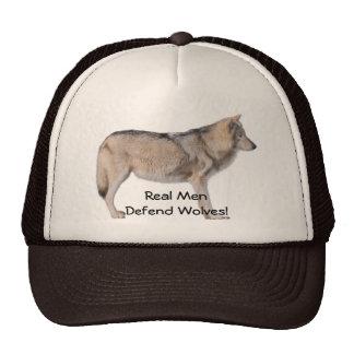 Standing Grey Wolf Wildlife Supporter Hat