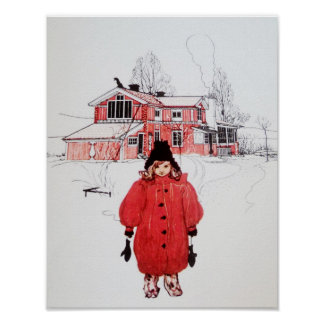Standing in Winter Snow Poster