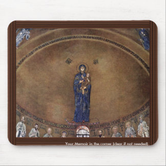 Standing Madonna Over Apostle Images Mouse Pad