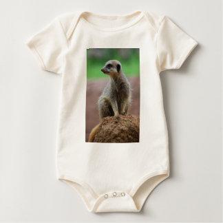 Standing Meerkat Baby Bodysuit