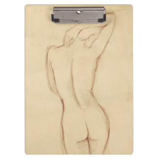 Standing Nude Female Drawing Clipboard