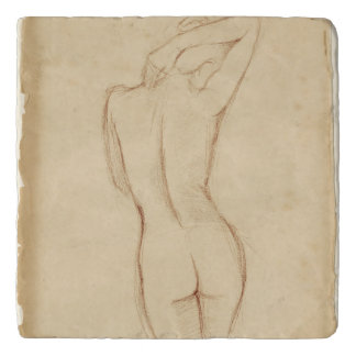Standing Nude Female Drawing Trivet