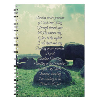 Standing on the Promises of God Christian Hymn Notebook