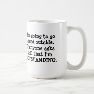 Standing Outside Basic White Mug