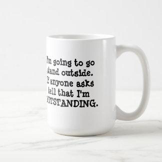 Standing Outside Coffee Mug