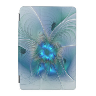 Standing Ovations, Abstract Blue Turquoise Fractal iPad Mini Cover