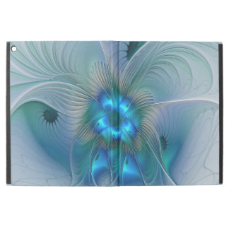"""Standing Ovations, Abstract Blue Turquoise Fractal iPad Pro 12.9"""" Case"""