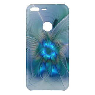 Standing Ovations, Abstract Blue Turquoise Fractal Uncommon Google Pixel XL Case