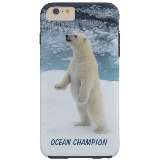 Standing Polar Bear Tough iPhone 6 Plus Case