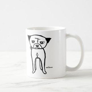 Standing Pug Basic White Mug