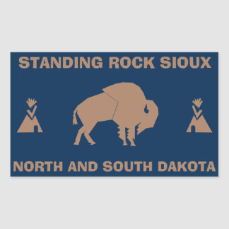 Standing Rock Sioux Rectangular Sticker