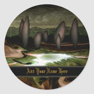 Standing Stone Circle Bookplate Stickers