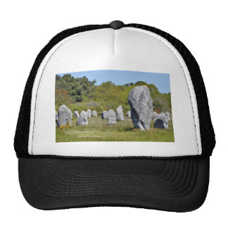Standing stones at Carnac in France Hats