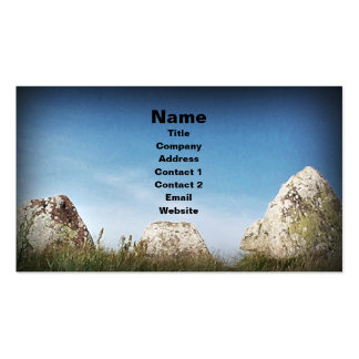 Standing Stones, business card template