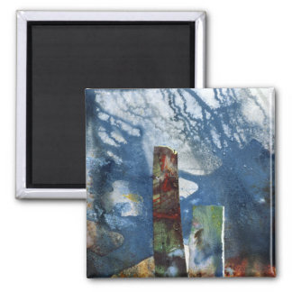 Standing Stones II Square Magnet