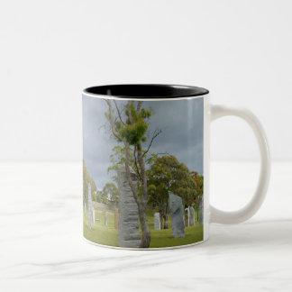 standing stones Two-Tone mug