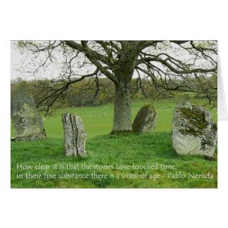 Standing Stones - Pablo Neruda Cards
