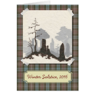 Standing Stones Solstice / Holiday Card
