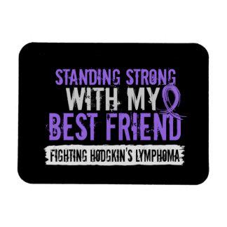 Standing Strong Best Friend Hodgkins Lymphoma Vinyl Magnet