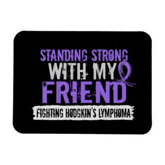 Standing Strong Friend Hodgkins Lymphoma Rectangular Magnet