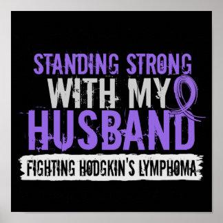 Standing Strong Husband Hodgkins Lymphoma Poster