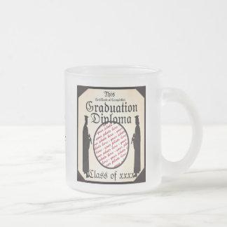 Standing Tall - Graduation Diploma Photo Frame Frosted Glass Mug