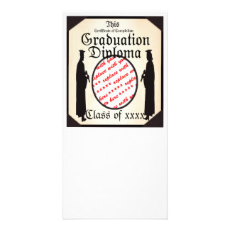 Standing Tall - Graduation Diploma Photo Frame Photo Greeting Card