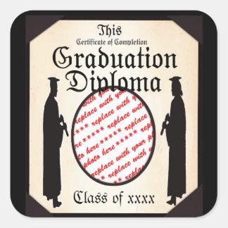 Standing Tall - Graduation Diploma Photo Frame Square Sticker
