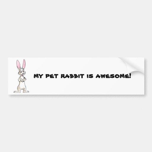 Standing White Rabbit Bumper Stickers