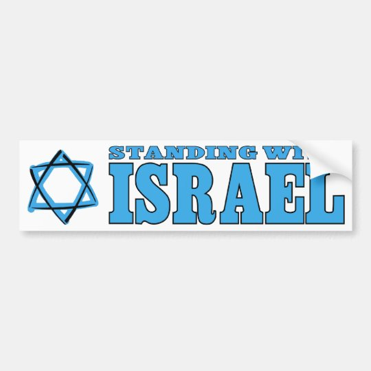 Standing With Israel Bumper Sticker