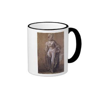 Standing Young Girl Ringer Mug