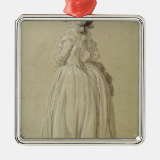 Standing Young Woman Christmas Ornament