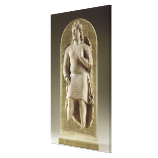 Standing youth or Maitreya, Gandhara (stucco) Canvas Print