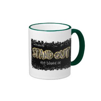 Standout~Distressed Border 2-sided Ringer Mug