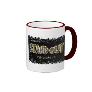 Standout~Distressed Border - 2-sided Ringer Mug