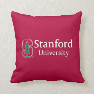 "Stanford University with Cardinal Block ""S"" & Tree Cushion"