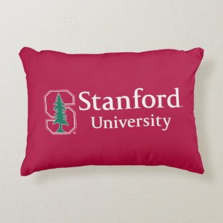 "Stanford University with Cardinal Block ""S"" & Tree Decorative Cushion"